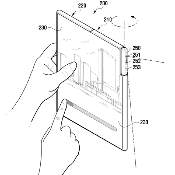 Samsung Patenkan Smartphone Lipat dengan Kamera Putar