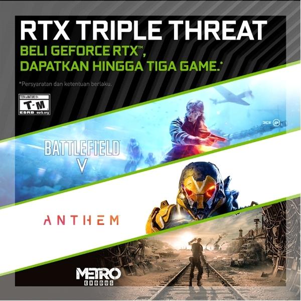 Kolaborasi dengan NVIDA, ASUS Gratiskan Tiga Game AAA