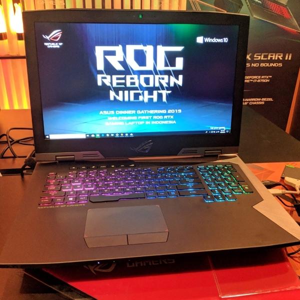 Asus Daratkan Laptop Gaming Pertama di Indonesia dengan GeForce RTX 2080