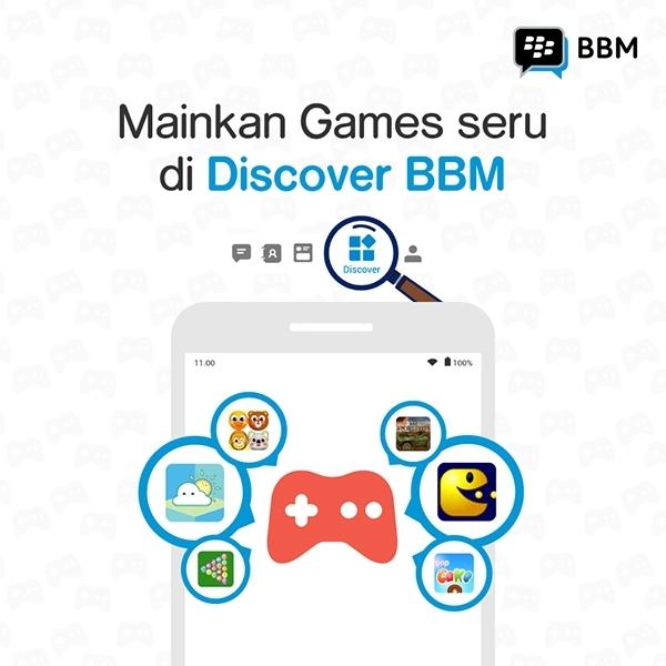 Sekarang Bisa Main Game Langsung Dari Aplikasi BBM