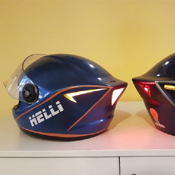 Helli Helmet, Smart Helmet Pemanggil Ambulan Jika Terjadi Kecelakaan