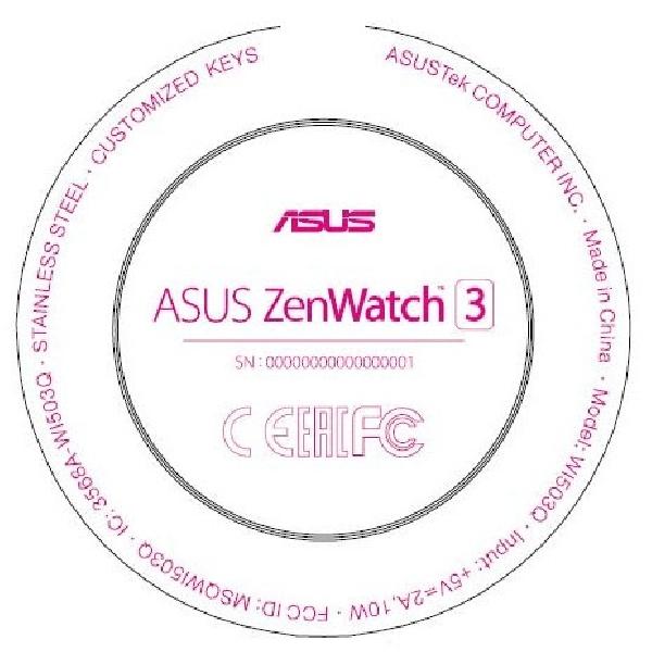 Sertifikat FCC Bocor, Asus ZenWatch 3 Ketahuan Punya Layar Bundar
