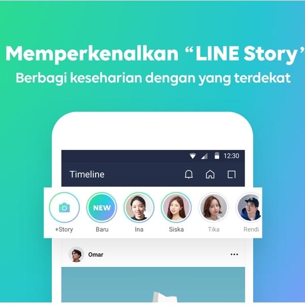 Giliran LINE Bawa Fitur Story ke Platformnya