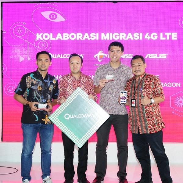 Tingkatkan Teknologi 4G LTE Terbaru, Qualcomm Gandeng Telkomsel dan ASUS