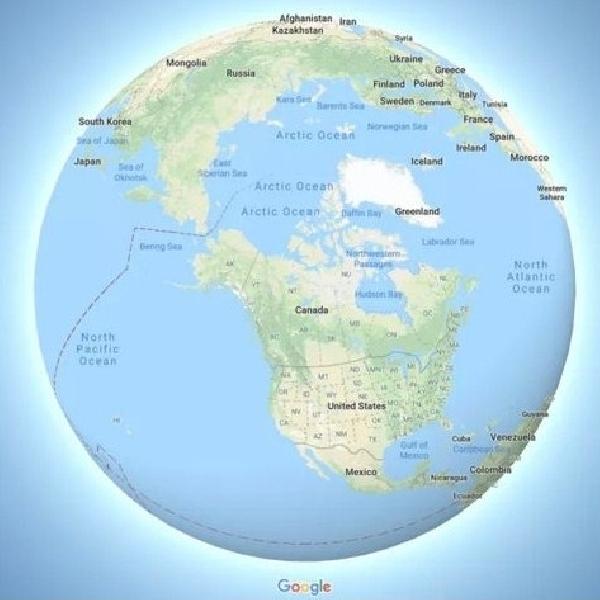 Google Maps Akan Tampilkan Bumi dalam Bentuk Bola Dunia