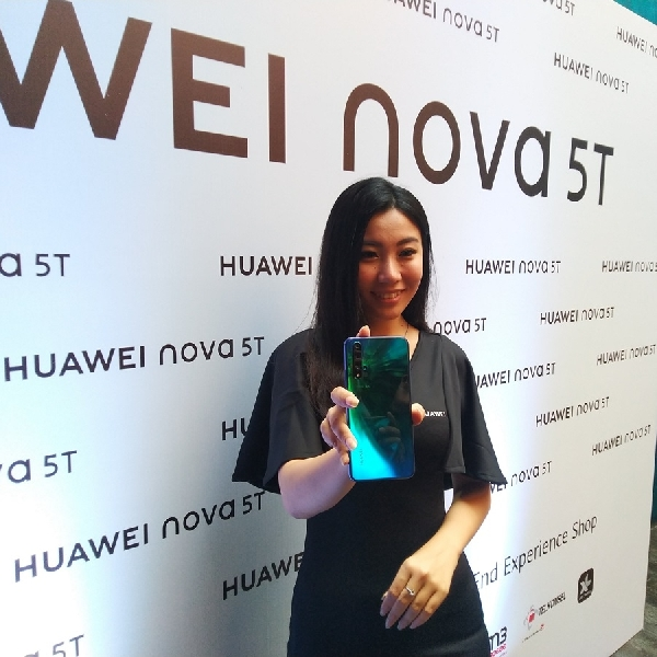 Huawei Nova 5T Meluncur, Sasar Pasar Anak Muda
