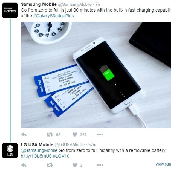 LG Sindir Fitur Fast Charging Samsung