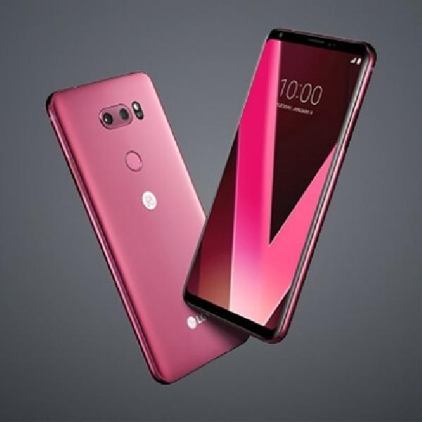 Cantiknya LG V30 Raspberry Rose Siap Unjuk Diri di CES 2018