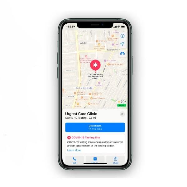 Melihat Lokasi Vaksin Covid-19 Melalui Apple Maps