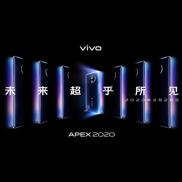Teaser Vivo APEX 2020 Menunjukkan Desain, Kamera, dan Pengisian Nirkabel 60W