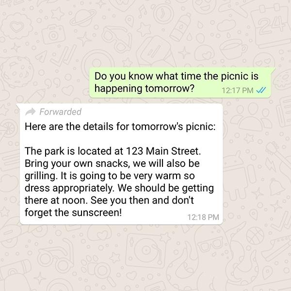 Pesan Forward Akan Diberi Tanda di Whatsapp