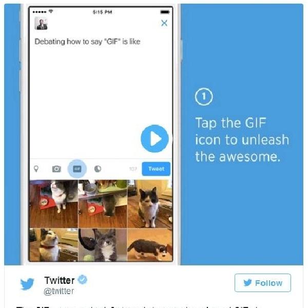 Twitter Kini Dukung Animasi GIF, Buat Pengguna Lebih Ekspresif