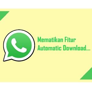 Cara Menonaktifkan Auto Download Media di Whatsapp