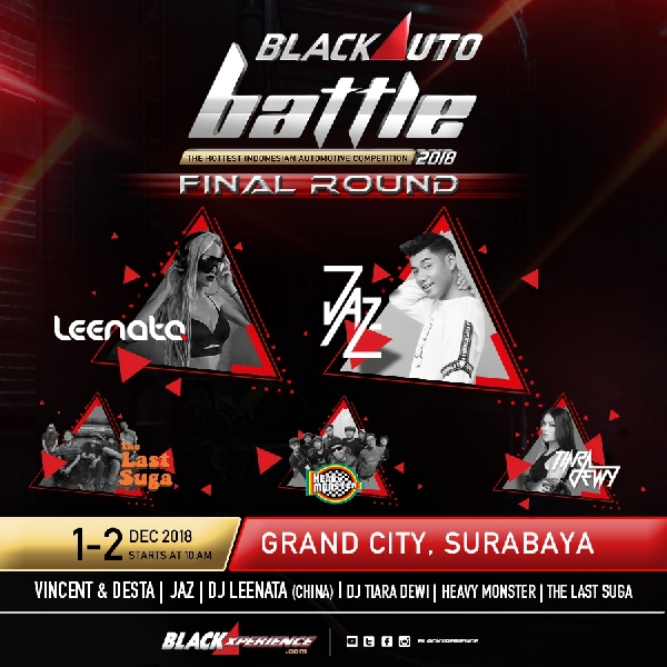 Bertabur Bintang di Final BlackAuto Battle 2018 Surabaya