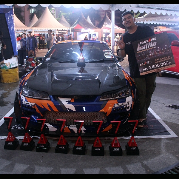 Nissan Silvia S15 Street Racing, Raih Second Runner Up the Champ BlackAuto Battle Balikpapan 2019
