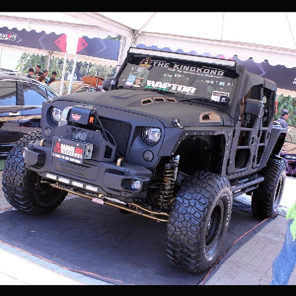 Rubicon Killer Kingkong Asal Makassar Warnai BlackAuto Modify BlackAuto Battle 2019 Jakarta