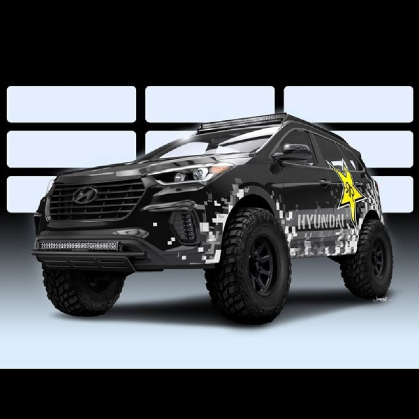 Modifikasi Hyundai Santa Fe Off Road: Rockstar Energy Moab