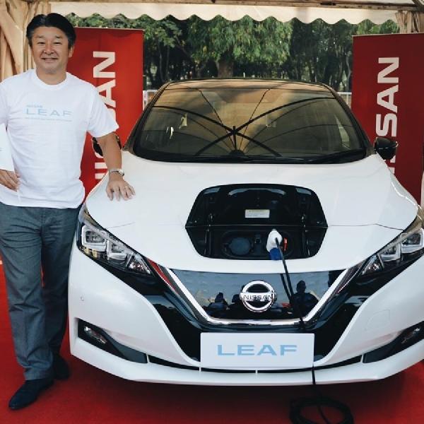 Nissan Pamerkan Mobil Listrik di Monas