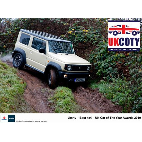 New Suzuki Jimny Sabet Gelar Best 4x4 UK Car of The Year Awards 2019