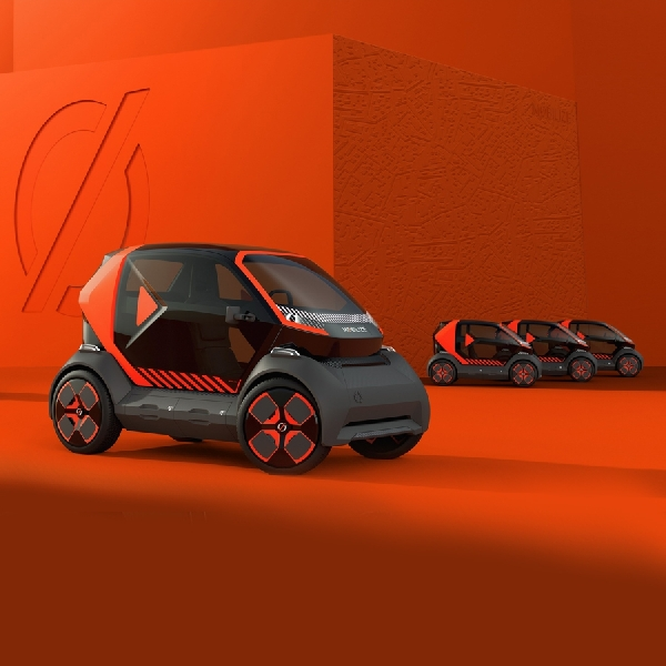 Renault Debut New Mobilize EZ-1 Electric Two Seater