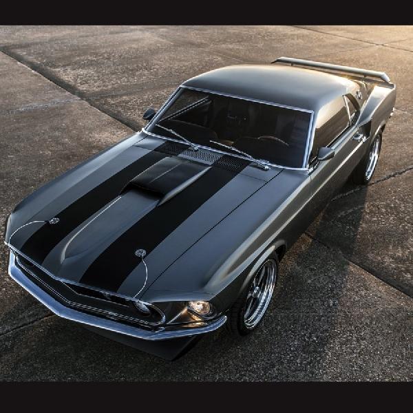 Restorasi Ganteng Mustang Mach 1 1969, Pake Mesin Ford V8 Coyote   1000 hp