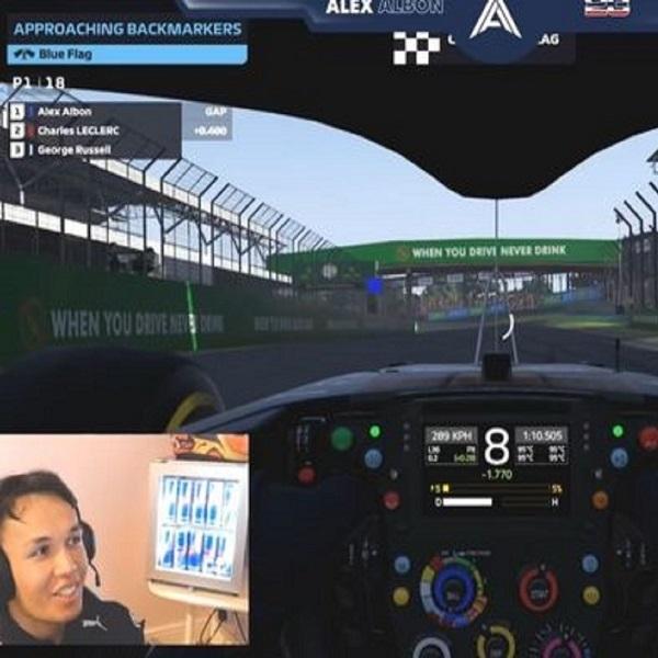 F1: Alex Albon Bandingkan Balapan Virtual Lebih Dengan Balapan Nyata
