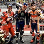 MotoGP: Andrea Dovizioso Tidak Mampu Mengejar Vinales dan Marquez