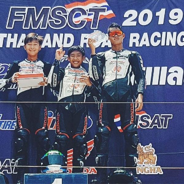 Pembalap Muda AHM Raih Podium Tertinggi di Thailand Talent Cup