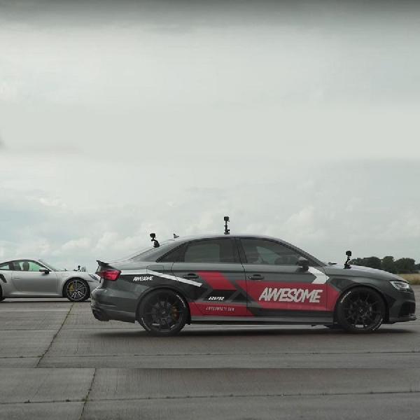 Apakah Audi RS3 Dengan 716 Tenaga Kuda Bisa Taklukkan Porsche 911 Turbo S?