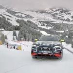 Audi e-tron Dengan Sistem Quattro Sukses  Menanjaki Salju Dengan Kemiringan 85 Derajat