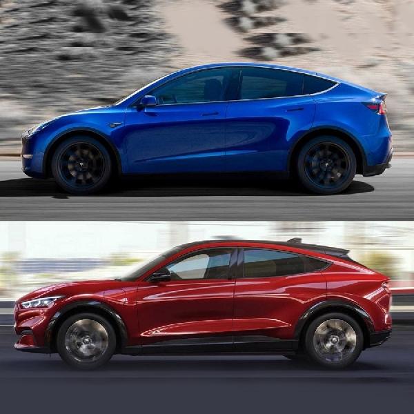 Perbandingan Tesla Model Y dengan Ford Mustang Mach-E