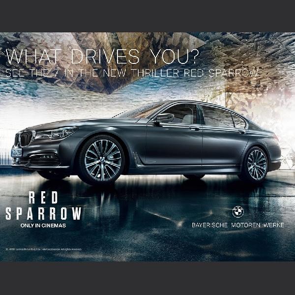 BMW Seri 7 Jadi Bintang Dalam Film Red Sparrow
