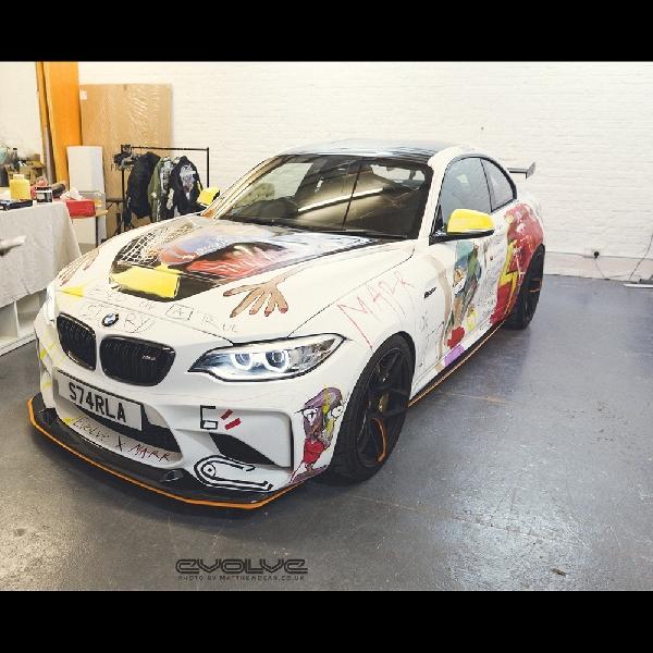 BMW M2 Dijadikan Kanvas oleh Seniman Asal Inggris, Ini Hasilnya