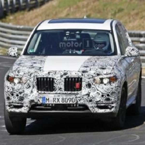 BMW X3 Terbidik Kamera Sedang Melakukan Pengujian