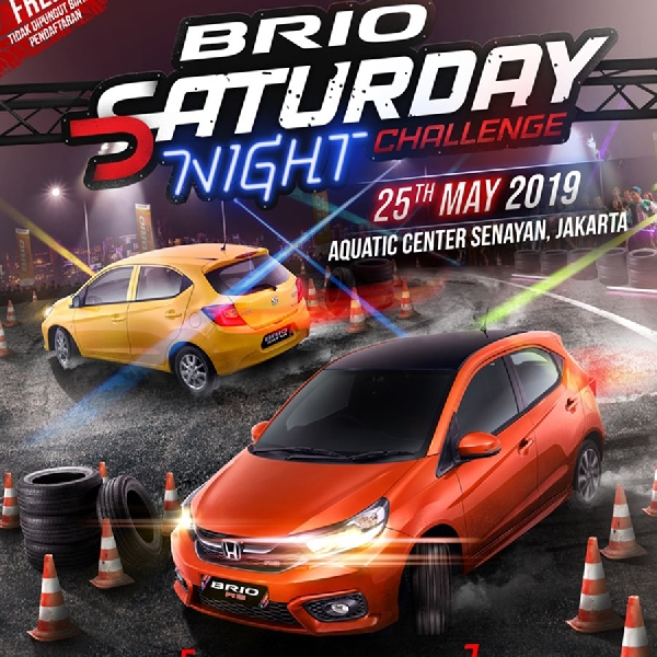 Honda Kembali Gelar Lomba Slalom Brio Saturday Night Challenge