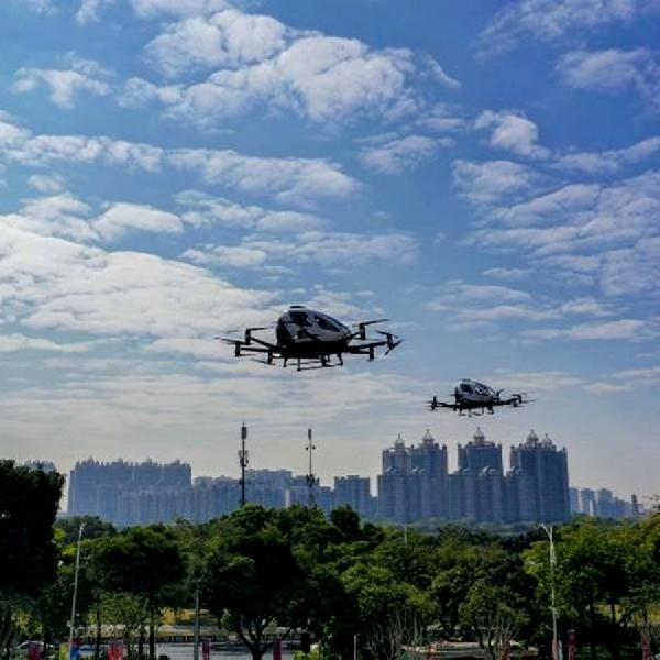 IIMS Hybrid 2021 EHang 216, Jadi Pilihan Pertama Urban Air Mobility di Ibu Kota