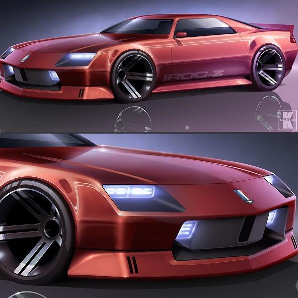 Kilau Tampilan Sisi Sudut Chevrolet Camaro IROC-Z Modern