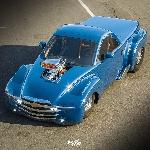 Modifikasi Rendering Chevy SSR Bergaya Hot Rod dan Mobil Drag
