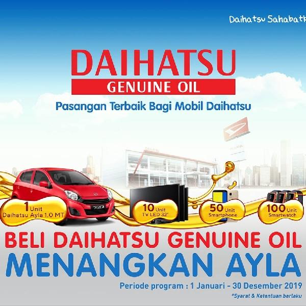 Program Diskon Suku Cadang dan Oli Daihatsu Via Online dan Offline