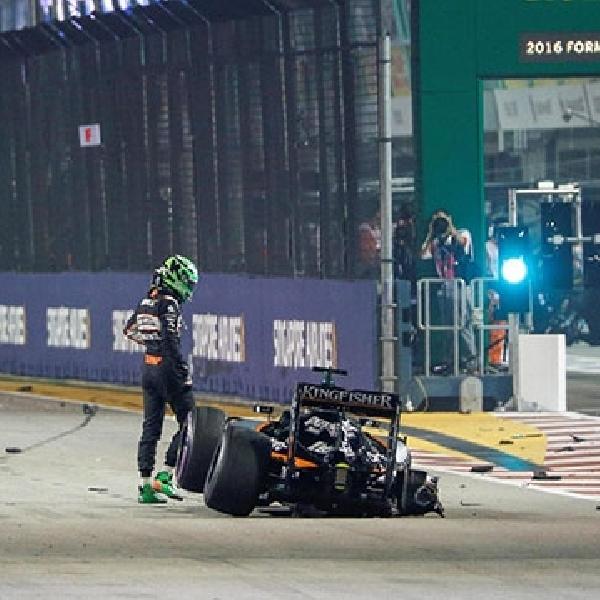 Alami Overheating Rem, Nico berhasil Raih Podium Pertama di GP Singapura