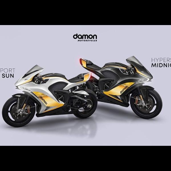 Dapatkan Motor Listrik Damon Hypersport Arctic Sun, Midnight Sun  Dengan Presale