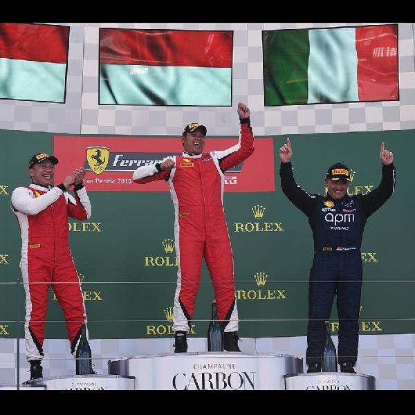 Rama Danindro Kembali Rebut Juara di Race 2 Seri Ferrari Challenge Trofeo, Albert Park Melbourne