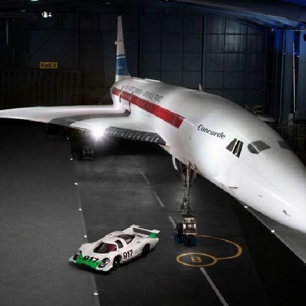 Peringati Ultah ke-50, Mobil Porsche 917 dan Pesawat Concorde Dipertemukan