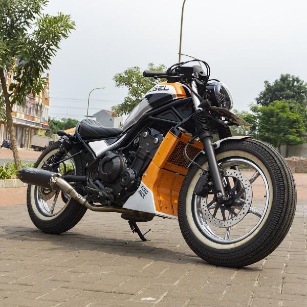 Modifikasi Honda Rebel 500, Cruiser Bike Disulap Menjadi Dragster