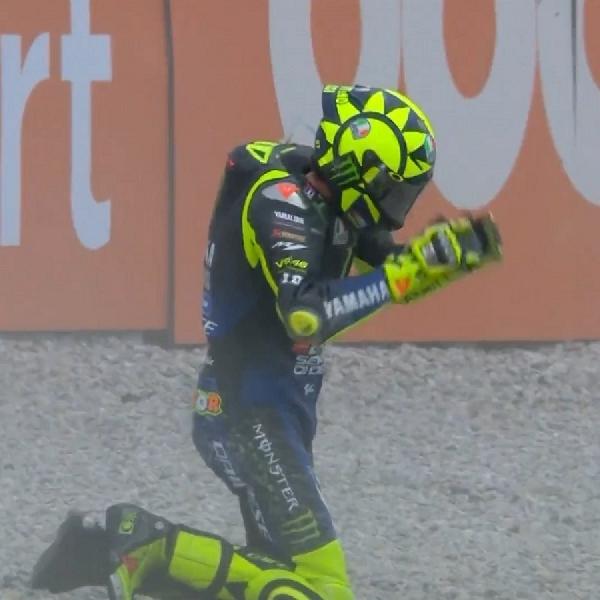 Hasil MotoGP Catalunya 2020: Valentino Rossi Crash, Gagal Raih Podium ke-200