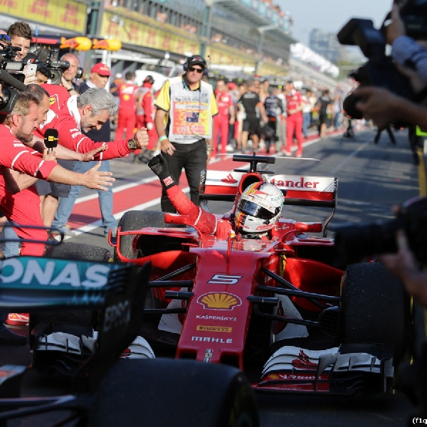 F1: Mainkan Strategi Cerdas, Vettel Raih Kemenangan Perdana di GP Australia