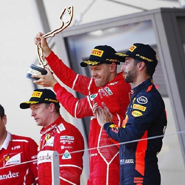 F1: Lagi - Berkat Strategi Pit Stop, Vettel Gagalkan Harapan Raikkonen di Monako