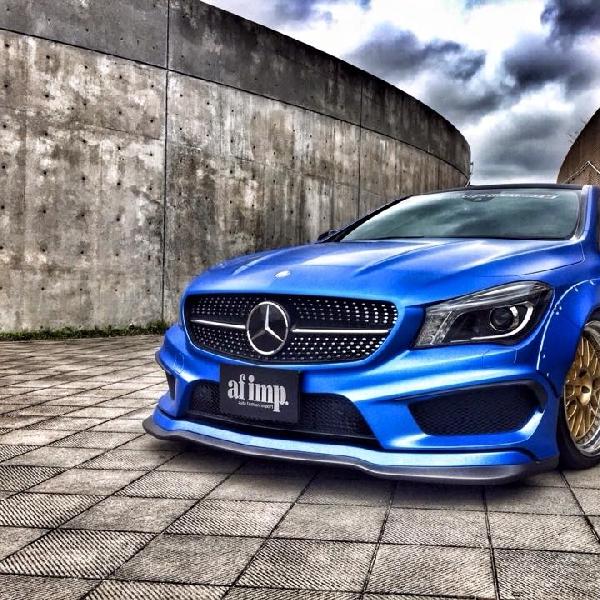 Modifikasi Mercedes-Benz CLA Widebody Ekstim Karya Tuner Jepang
