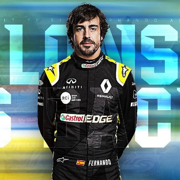 F1: Fernando Alonso Bakal Jalani Tes Bersama Tim Renault di Barcelona