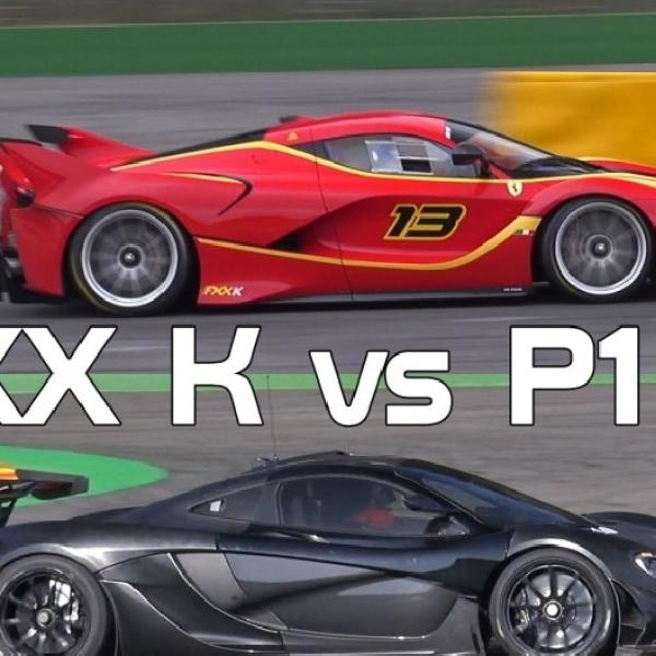 Adu Kuat Ferrari FXX K dan McLaren P1 GTR